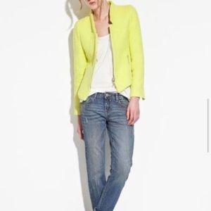 Zara Neon Tweed Zipped Blazer
